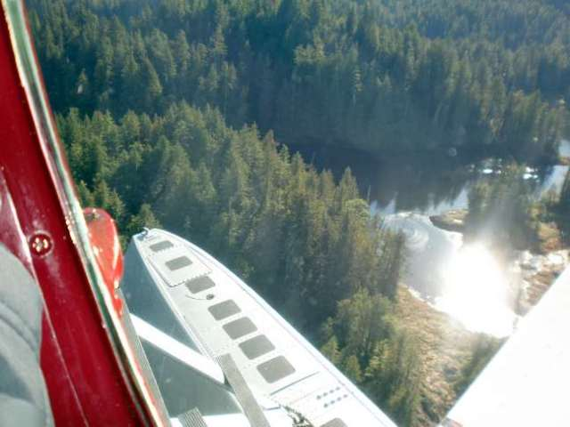 Pirate Airworks of Ketchikan takes Safari Quest passengers for a flight