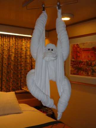 hanging towel monkey