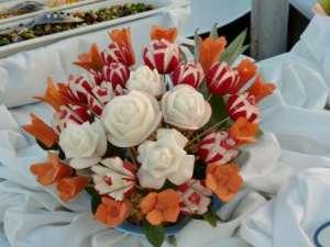 veggie flower arrangement