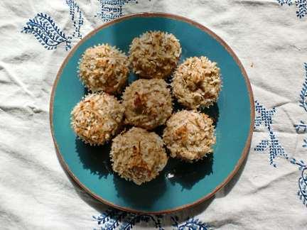 coconut lime muffin recipe, sugarless version