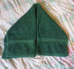 how to make a towel donkey