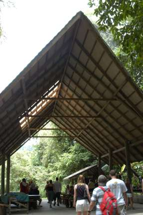 meal shack in the jungle