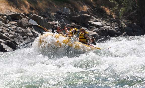 through the rapids with Alpine Adventures