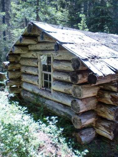 historic trapper's cabin
