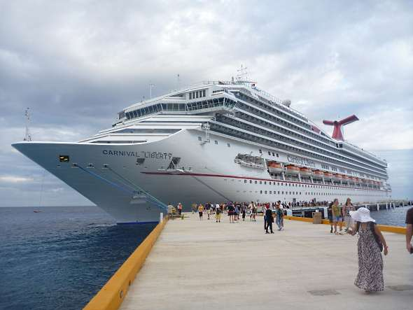 Liberty docked in Cozumel