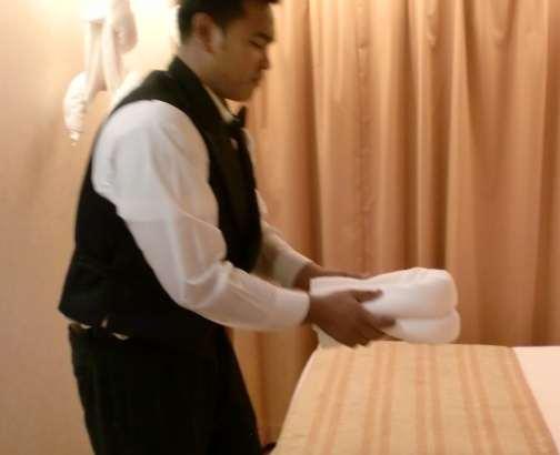 Rolled Bath Towel Rack