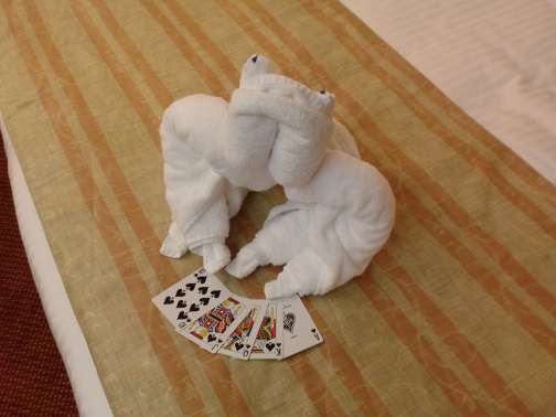 Carnival towel frog