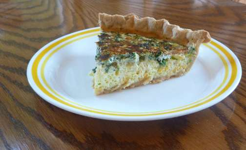 Quiche in gluten free pie crust
