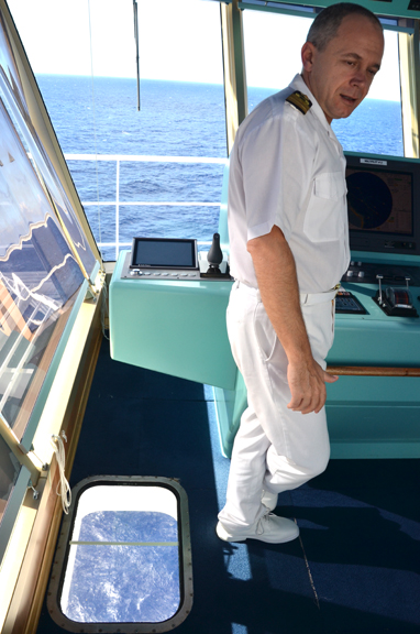 Captain on the bridge, Carnival Liberty