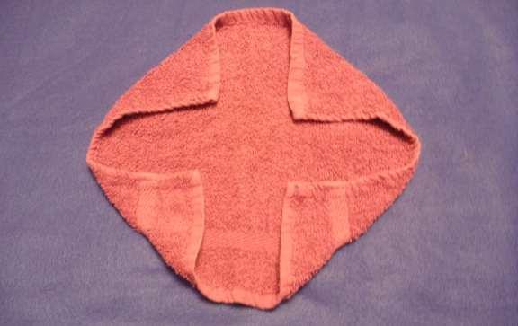 washcloth animal folding instructions