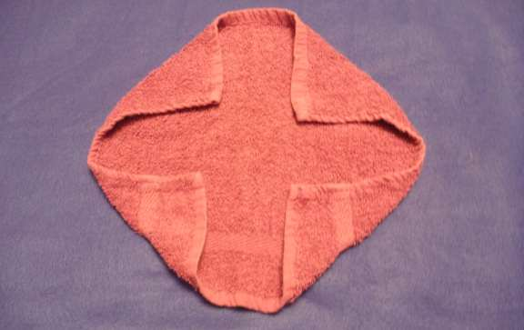 washcloth animal folding instructions
