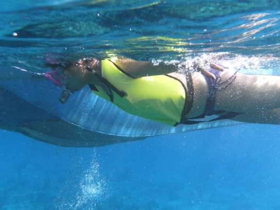 overfilled snorkel vest