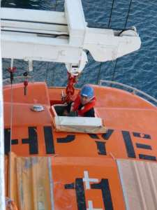 Carnival Liberty crew in lifeboat drill