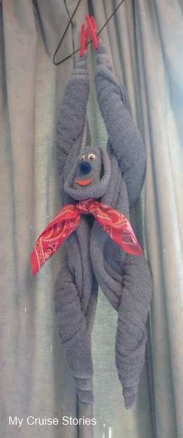 how to fold a hanging towel monkey