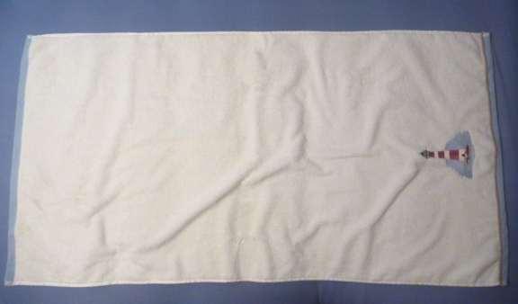 folding a towel cake