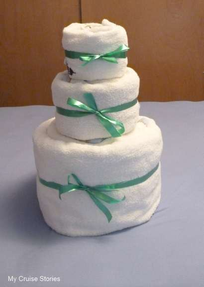 wedding cake made out of towels how to make a towel cake cruise stories 23110