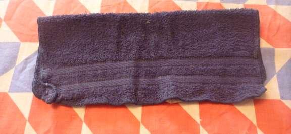 folding washcloth candle for towel birthday cake