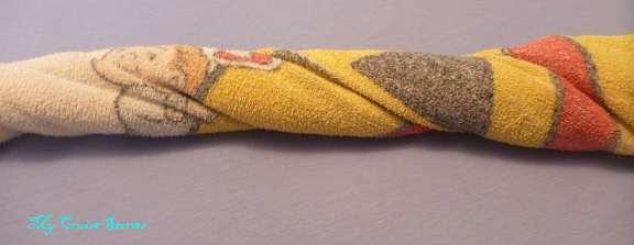 folding a towel snake
