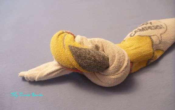 making a towel snake