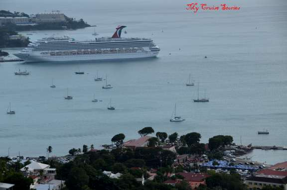 cruise ship port St Thomas