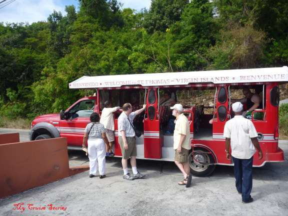 bus tour of St Thomas USVI