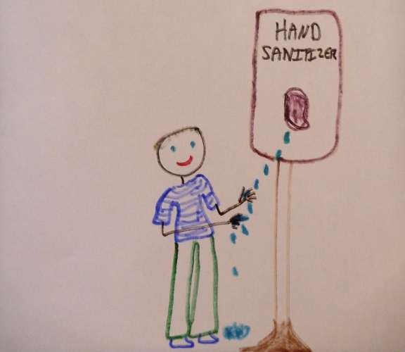 one kid could use up the entire ship's supply of hand sanitizer