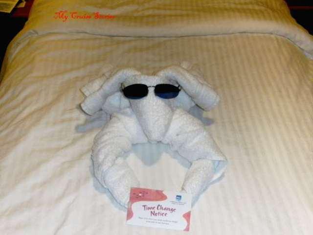 Norwegian Sun towel animal