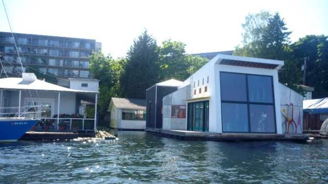 Portage Bay floating homes