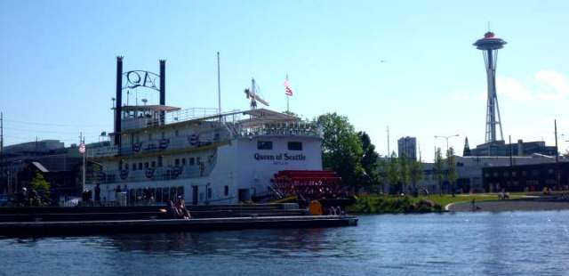 paddle wheel boat, Lake Union