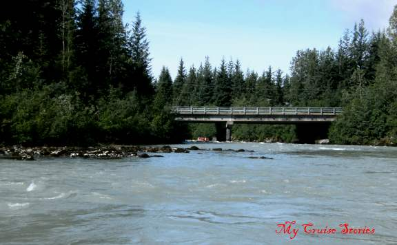 bridge over Mendenhall River