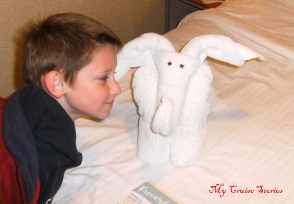 towel elephant on the Norwegian Sun
