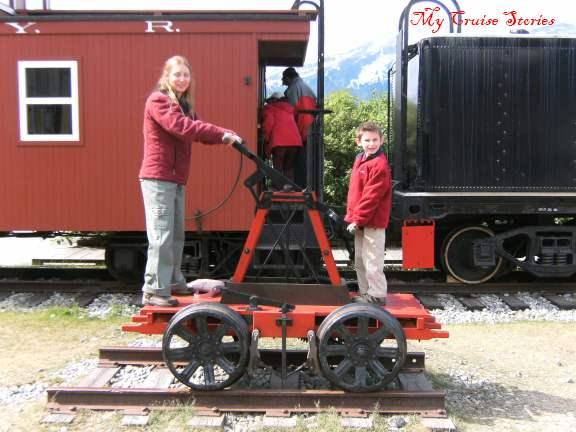train display in Skagway