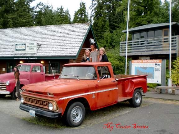 Bella's trucks at the Forks Visitor's Center