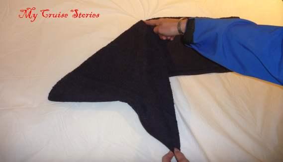 folding a towel dog head