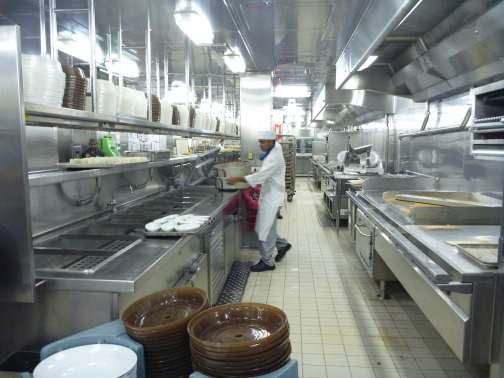 galley on Carnival Liberty