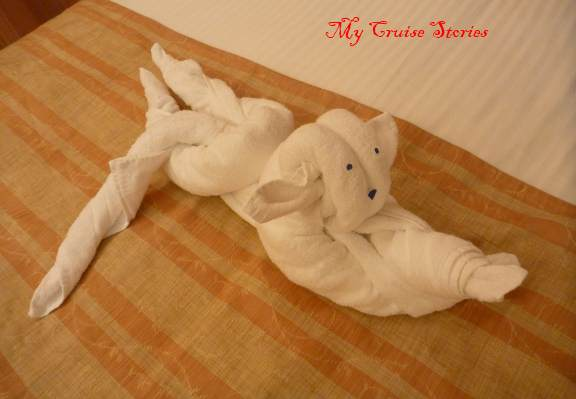 towel cat, Carnival Liberty