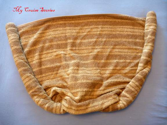 folding towels into a stingray