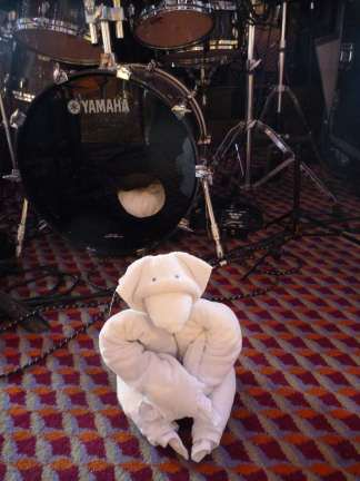 towel bear at Carnival Liberty bandstand