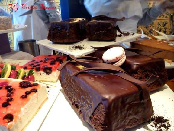 daytime chocolate buffet