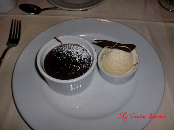 Carnival cruise chocolate melting cake