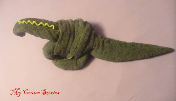 how to fold a towel dinosaur