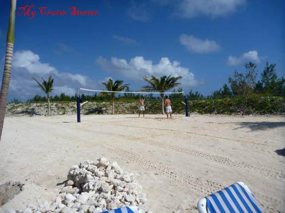 beach in Carnival's cruise port at Grand Turk