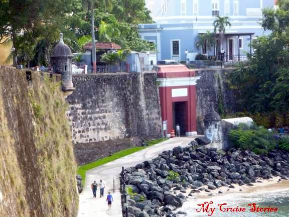 red gate in San Juan Puerto Rico
