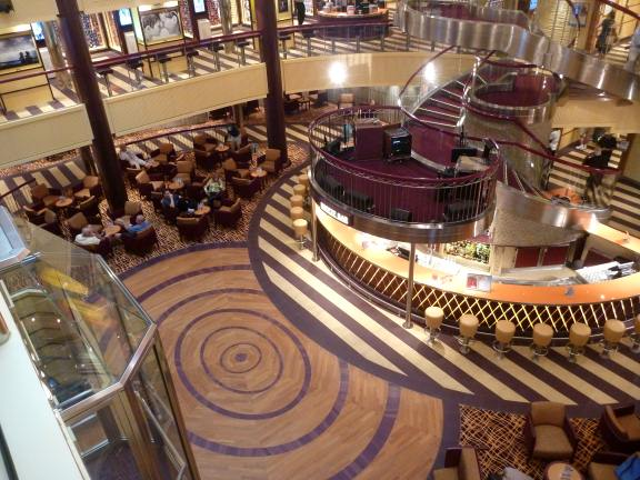 decor on Carnival Breezr cruise ship