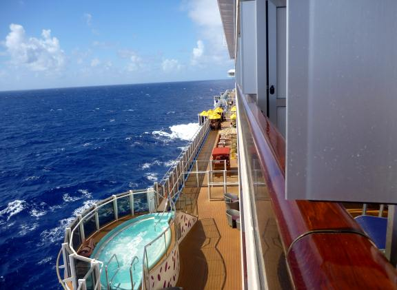 Carnival breeze ship decor cruise stories for Cruise ship balcony view