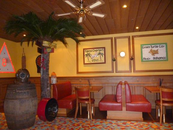 caribbean casual decor in the pub