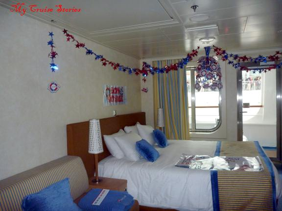 decorating a cruise ship cabin for special occasions