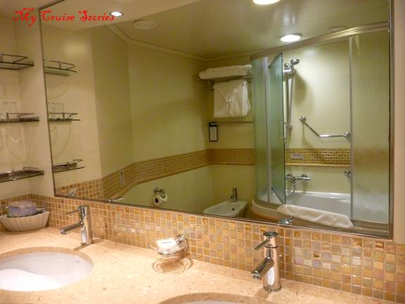 Spa bathroom colors - Accommodations On Carnival Breeze Cruise Stories