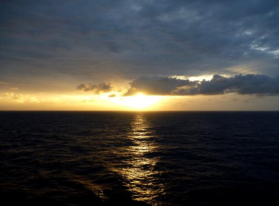 sunrise on Carnival Breeze