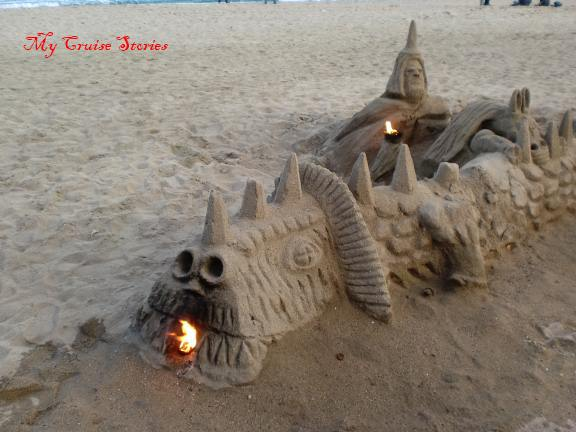 sandcastle in Barcelona, Spain